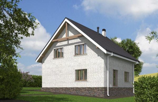 проект дома из кирпича SDn 552 10