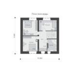 проект дома из кирпича SDn-552 6