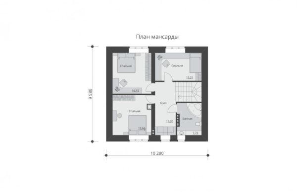 проект дома из кирпича SDn 552 6