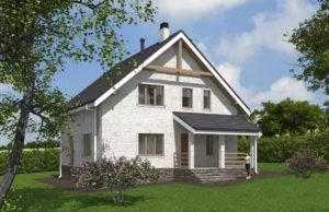 проект дома из кирпича SDn 552 7