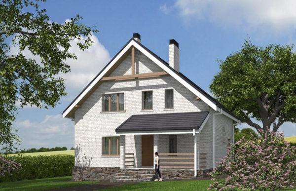проект дома из кирпича SDn 552 8