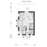 проект дома из кирпича SDn-554 1