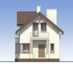 проект дома из кирпича SDn-554 2