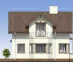 проект дома из кирпича SDn-554 3