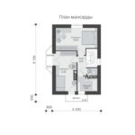 проект дома из кирпича SDn-554 6