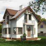проект дома из кирпича SDn-554 7