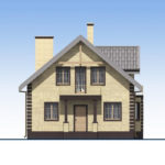 проект дома из кирпича SDn-563 2