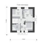 проект дома из кирпича SDn-563 6