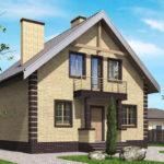 проект дома из кирпича SDn-563 8