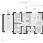 проект дома из кирпича SDn-574 2