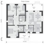 проект дома из кирпича SDn-581 1
