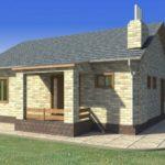 проект дома из кирпича SDn-914 2