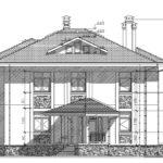 проект дома из кирпича SDn-927 3