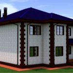 проект дома из кирпича SDn-993 2