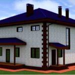 проект дома из кирпича SDn-993 3