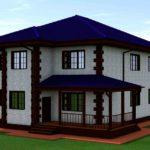 проект дома из кирпича SDn-993 5