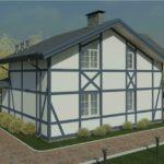проект дома из пеноблока-газобетона SDn-320 1
