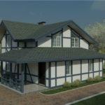 проект дома из пеноблока-газобетона SDn-320 2