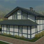 проект дома из пеноблока-газобетона SDn-320 3