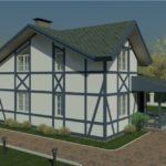 проект дома из пеноблока-газобетона SDn-320 6