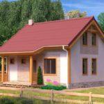 проект дома из пеноблока-газобетона SDn-322 5