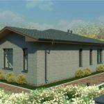 проект дома из пеноблока-газобетона SDn-323 2