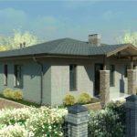 проект дома из пеноблока-газобетона SDn-323 3