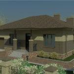 проект дома из пеноблока-газобетона SDn-333 3