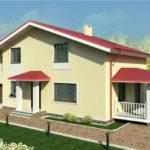 проект дома из пеноблока-газобетона SDn-363 2