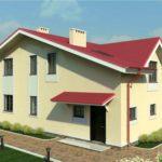 проект дома из пеноблока-газобетона SDn-363 3