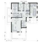 проект дома из пеноблока-газобетона SDn-390 1