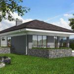 проект дома из пеноблока-газобетона SDn-390 10