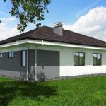проект дома из пеноблока-газобетона SDn-390 8