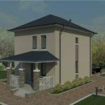 проект дома из пеноблока-газобетона SDn-391 3
