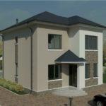 проект дома из пеноблока-газобетона SDn-391 4