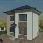 проект дома из пеноблока-газобетона SDn-391 5