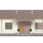 проект дома из пеноблока-газобетона SDn-402 2