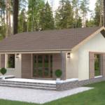 проект дома из пеноблока-газобетона SDn-402 7