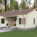 проект дома из пеноблока-газобетона SDn-402 9