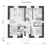 проект дома из пеноблока-газобетона SDn-485 1