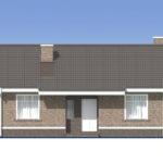 проект дома из пеноблока-газобетона SDn-485 2