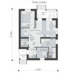 проект дома из пеноблока-газобетона SDn-509 1