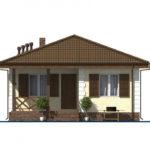 проект дома из пеноблока-газобетона SDn-509 4