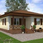 проект дома из пеноблока-газобетона SDn-509 6