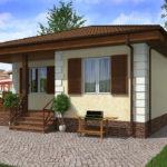 проект дома из пеноблока-газобетона SDn-509 9