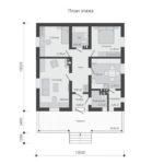проект дома из пеноблока-газобетона SDn-514 1