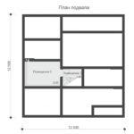 проект дома из пеноблока-газобетона SDn-522 1