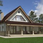 проект дома из пеноблока-газобетона SDn-522 10