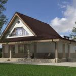 проект дома из пеноблока-газобетона SDn-522 11