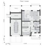 проект дома из пеноблока-газобетона SDn-522 2